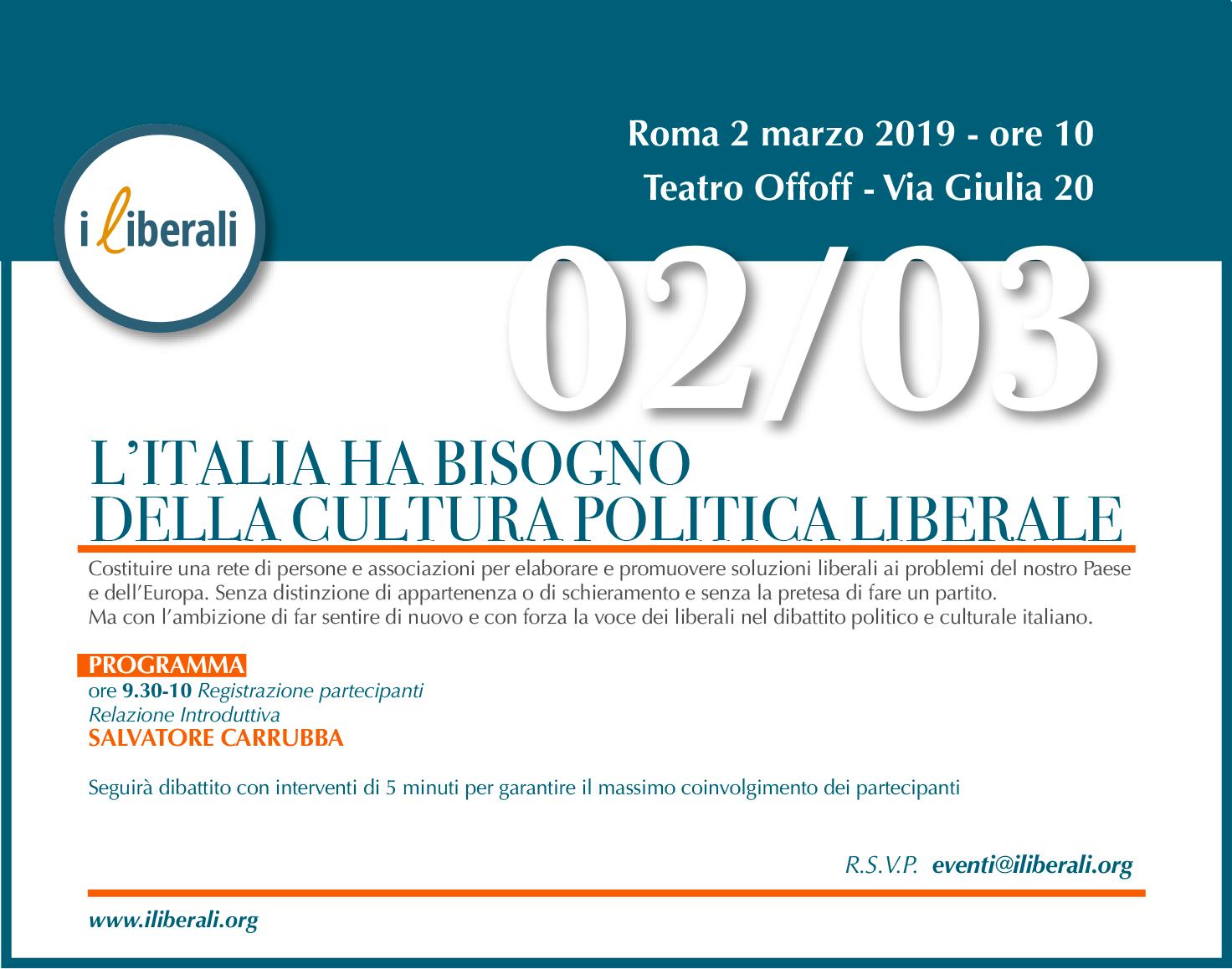 invito 2 marzo 2019 i liberali