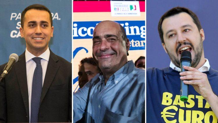 Di Maio, Salvini e Zingaretti: tre sfumature di statalismo