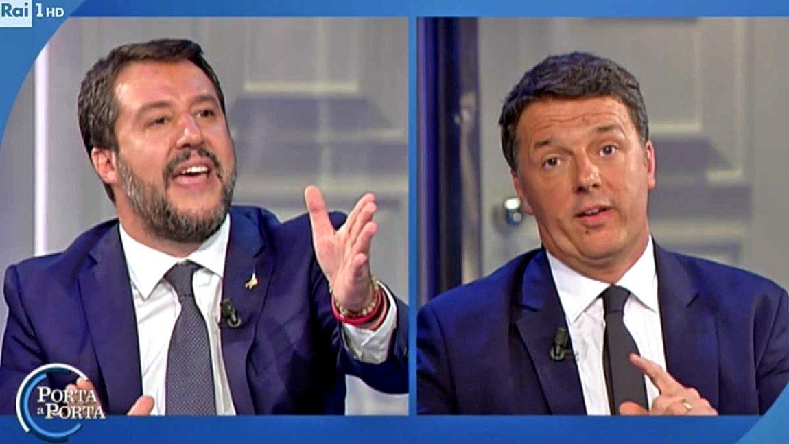 Chi ha vinto il match tv fra Renzi e Salvini?
